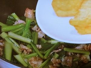 厚揚げと小松菜の和風炒め