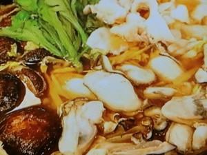 カキと豚肉と干ししいたけのうまみ最強鍋