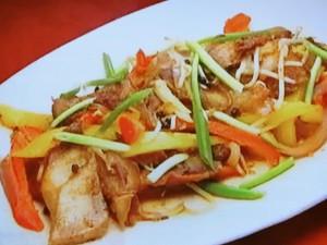 もこみち流 豚肉と野菜の中華風粒こしょう炒め