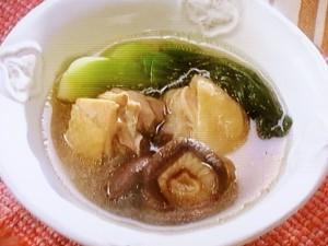 鶏肉と干ししいたけのスープ