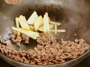 牛肉の辛み炒め