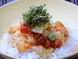 黄身じょうゆの海鮮丼