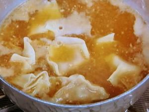 かんたん味噌ワンタン