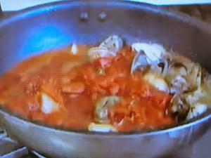もこみち流 タラとアサリのトマトパスタ