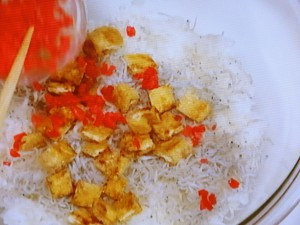 しらすと揚げ油の和風混ぜご飯