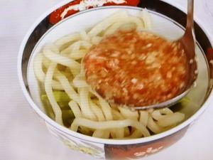 清湯(ちんたん)スープの天津うどん