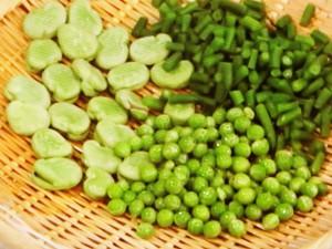 春の豆すし