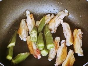 甘長唐辛子とオクラの味噌焼き