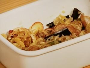 蒸し豚と野菜のみょうがじょうゆ
