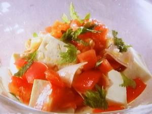 豆腐とトマトのサラダやっこ