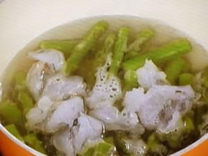 アスパラと海老のトウチー炒め