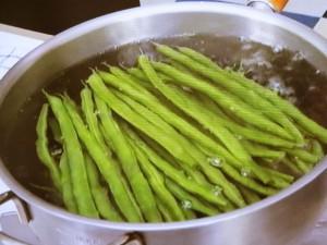 いんげんとひき肉の香り炒め