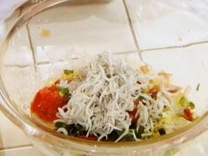 しらすおろし&しらすおろしの冷製トマトパスタ