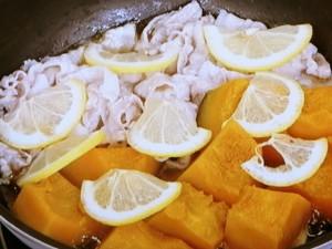 カボチャと豚バラのさっぱり煮