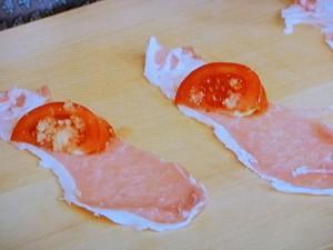トマトの肉巻き