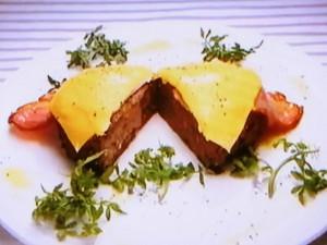 もこみち流 スパイスハンバーグ~ベーコン チーズのせ