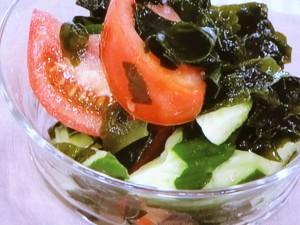わかめと夏野菜のサラダ