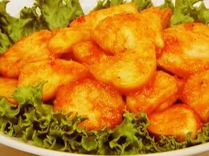 鶏むね肉とポテトのチリソース