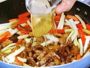 牛肉と夏野菜のカレーきんぴら