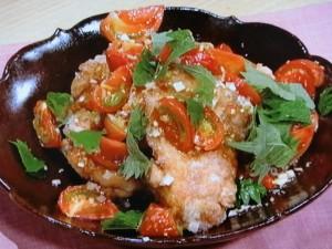 鶏のジューシートマト竜田揚げ