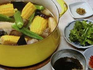 夏野菜のスタミナスープ鍋