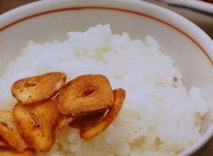 にんにくのバター炒りのせご飯