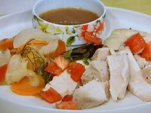 香味野菜のコールドチキン