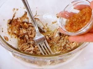サーディンと梅肉の冷やし中華