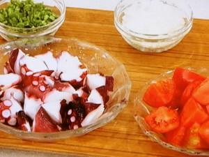 たことトマトのサラダ