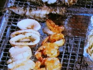 魚介のハーブマリネ焼き