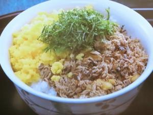 カツオそぼろご飯 炒り卵とせん切りの紫蘇