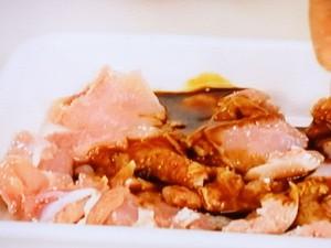栗と鶏肉の炒め物