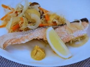 フランス風さけと野菜の蒸し煮