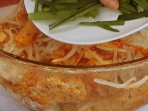 豚肉とキムチのレンジ蒸し