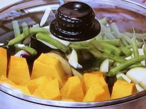 野菜の蒸し煮 そぼろあえ