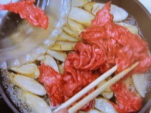 ごぼうと牛肉の土佐煮