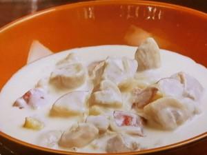 鶏肉とさつま芋のクリーム煮