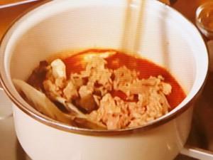 マイタケのカレー風味トマトスープ