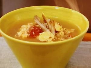 マイタケの梅かきたまスープ