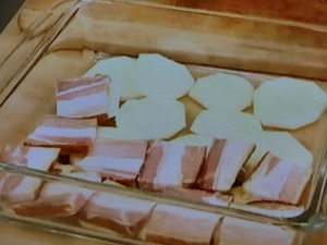 もこみち流 スライスベーコンとスライスポテトのオーブン焼き