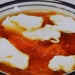 トマトとメレンゲのとろみスープ
