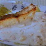 魚のムニエルマッシュルームソース
