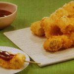 ねぎと鶏肉の串揚げ