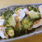 ブロッコリーと鶏肉の塩炒め