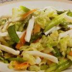 いかと春野菜の塩炒め