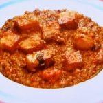 もこみち流 ベーコンとレンズ豆のトマト煮込み