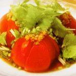 トマトの冷製中華ダレ