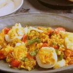 南インド式ゆで卵入りスクランブルエッグ