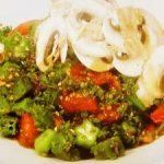 夏野菜のパセリソース
