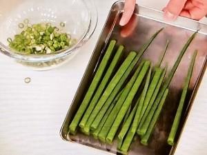 香味野菜の下ごしらえ